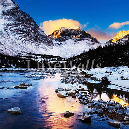 Mountains In The Winter Wallpaper