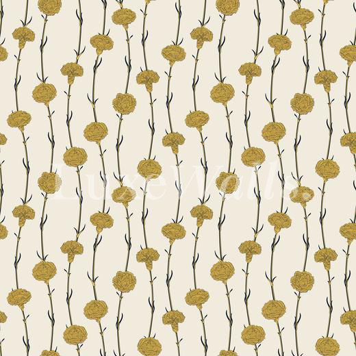 Vintage Cloves Print Wallpaper