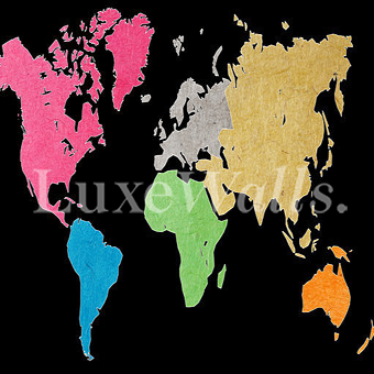 Map wallpaper removable and reusable shop now colourful world map wallpaper gumiabroncs Image collections