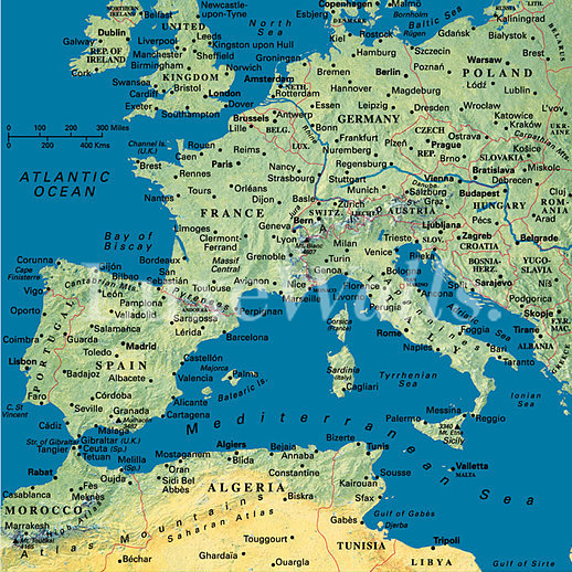 Map wallpaper removable and reusable shop now map of europe wallpaper gumiabroncs Choice Image