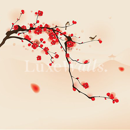 Pip Studio the Official website - Cherry Blossom wallpaper red pink