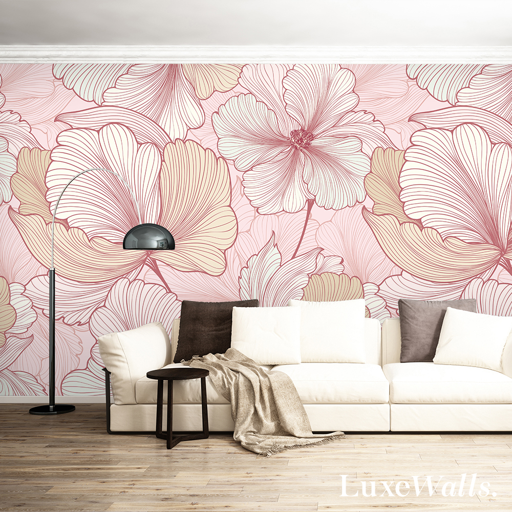 3 ways to use pink wallpaper