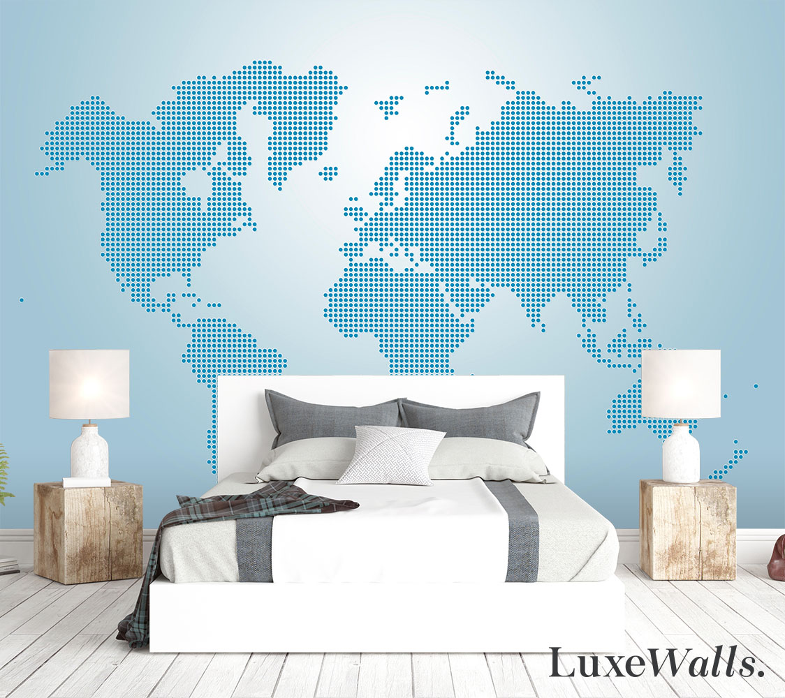 Feature walls world map wallpaper for the home luxe walls feature walls world map wallpaper for the home gumiabroncs Choice Image