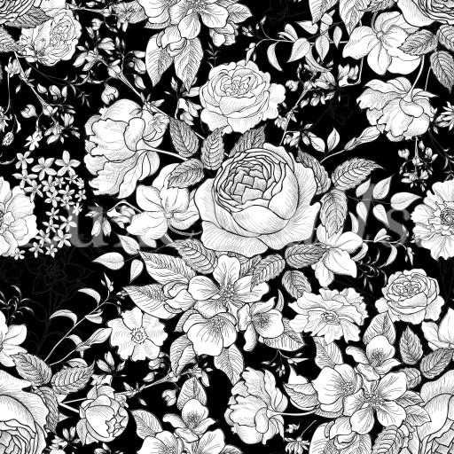 Floral wallpaper removable and reusable wallpaper shop now monochrome floral wallpaper mightylinksfo